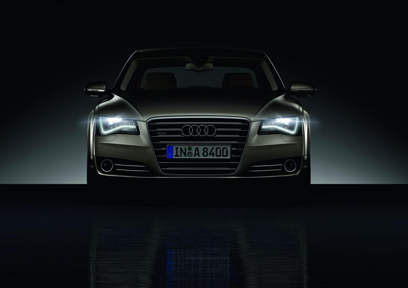 The Audi A8 hybrid,