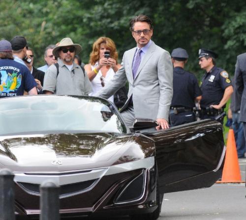 Automaniac.in » Tony Stark With New Acura NSX