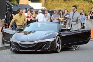 tony stark with Acura NSX