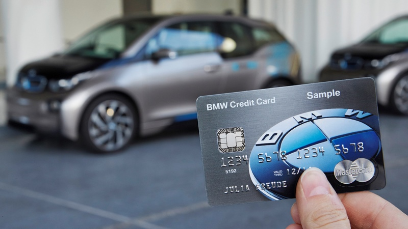 Car with credit card