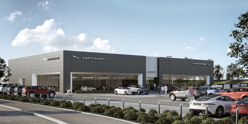 Land Rover showroom