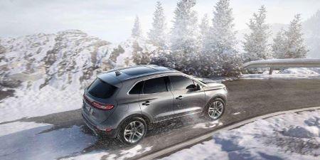 SUV in winter
